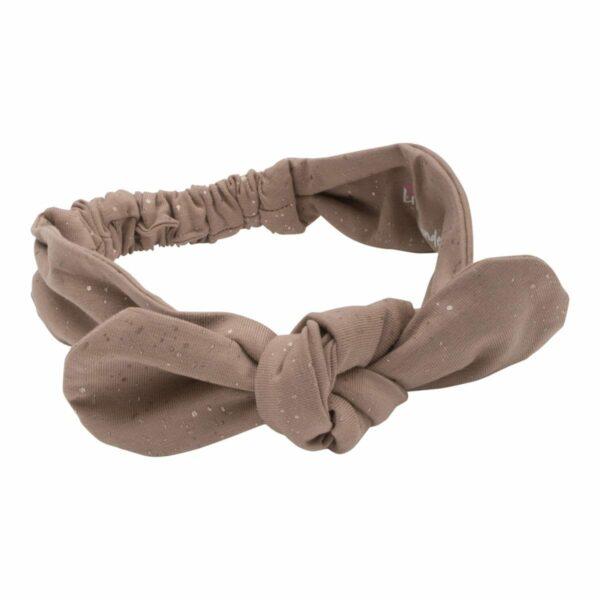 Headband Chestnut | Chestnut brunt jersey hårbånd med glitterprint