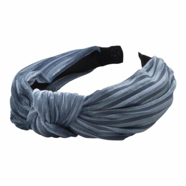 Headband Dusty Blue velvet | Hårbøjle med fløjl i støvet blå fra Little Wonders