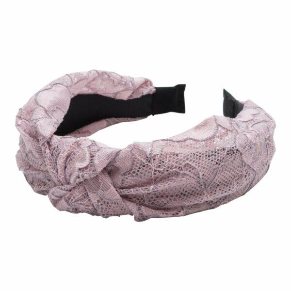 Headband Dusty Rose lace | Hårbøjle med blonde i støvet rosa fra Little Wonders