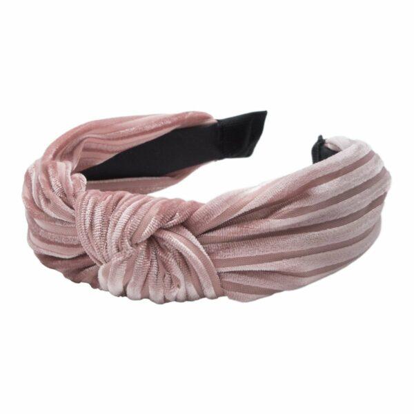 Headband Dusty Rose velvet | Hårbøjle med fløjl i støvet rosa fra Little Wonders