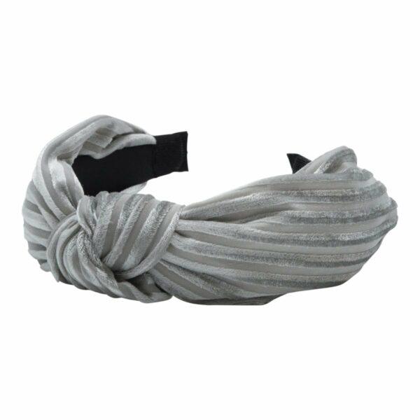 Headband Light Grey velvet | Hårbøjle med fløjl i lysegrå fra Little Wonders