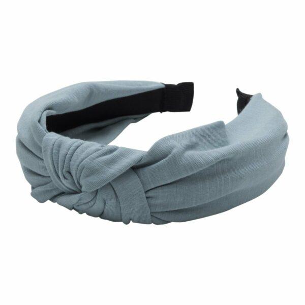 Headband Old Blue Jersey | Hårbøjle med jersey stof i støvet blå fra Little Wonders
