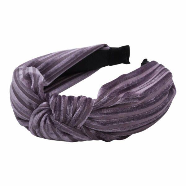 Headband Purple velvet | Hårbøjle med fløjl i støvet lilla fra Little Wonders