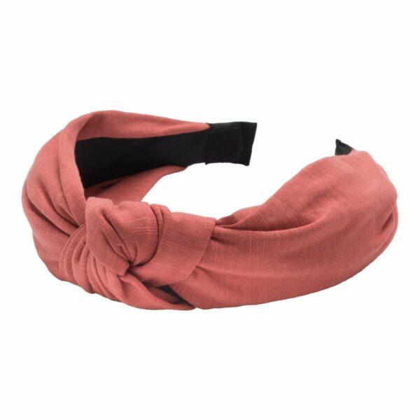 Headband Teracotta Jersey | Hårbøjle med jersey stof i teracotta farvet stof fra Little Wonders
