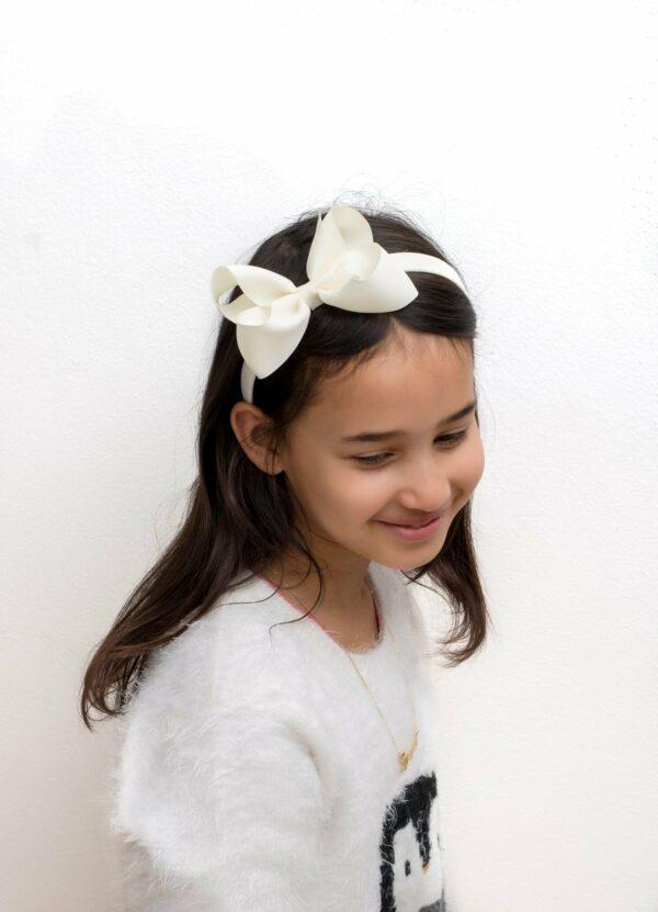 LW new 5 | Michelle - Hårbøjle med stor sløjfe i grosgrain - sommerfarver
