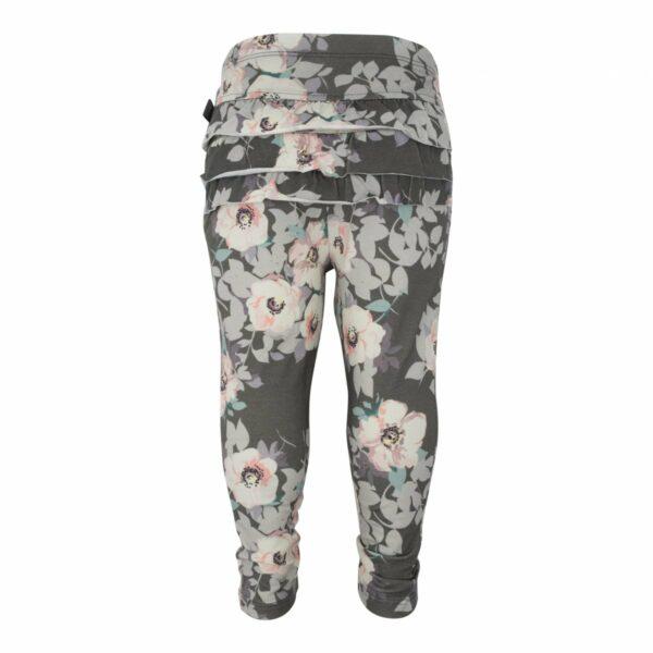 Leggings Grey Flower | SS18 Grey Flower Leggings med flæser