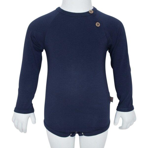 Navy boys body | Navy blå body til drenge med albue lapper