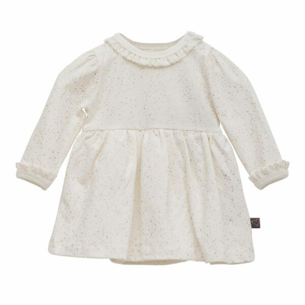 Newborn bodydress off white glitter | Off white bodykjole med glimmerprint til nyfødt