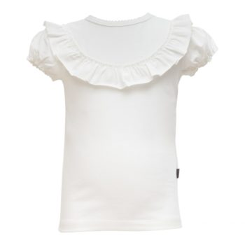 SS19 Off White kortærmet bluse med flæsekant
