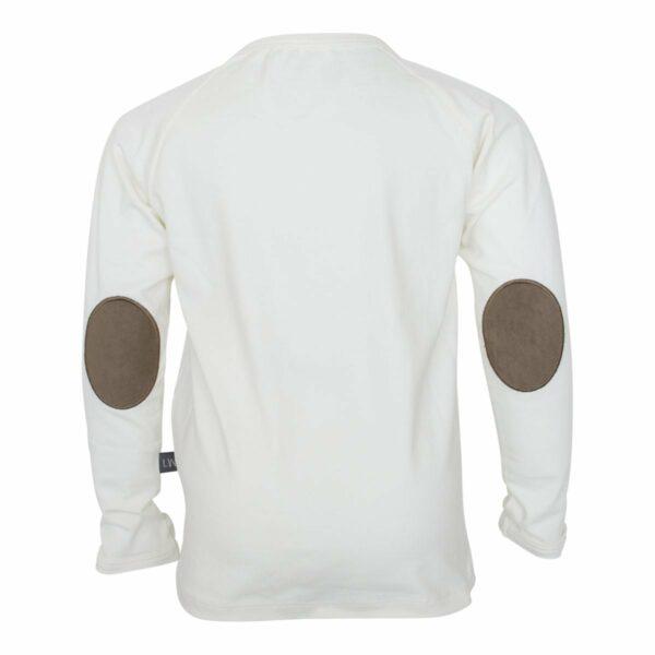 Off white boys T shirt | Off white bluse til drenge med albue lapper
