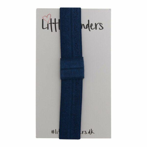 OliviaHvid 6 | Elastik hårbånd til sløjfer -Navy Blå