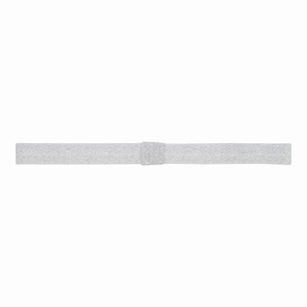 Oliviashitesilver | Olivia - Elastik hårbånd til sløjfer - Hvid med sølv