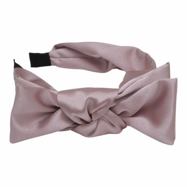 Regitze 146 Cameo 1   Hårbøjle støvet rosa glitter med stor sløjfe
