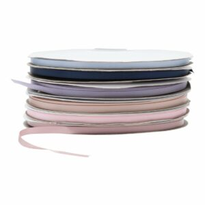 Ærmebånd i glitter silke til dåbskjolen - 2 meter