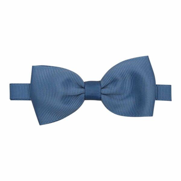 Smoke blue bowtie grosgrain | Støvet Blå butterfly i grosgrain til børn
