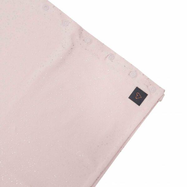 Tube Scarf corner | Støvet rosa tube tørklæde med glimmerprint til børn