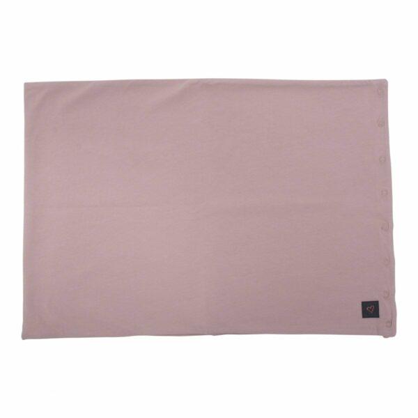 Tube scarf Dusty Rose 2 | Støvet rosa tube tørklæde med glimmerprint til børn