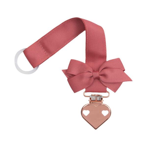 Cinnabar suttesnor med lille sløjfe og hjerte clips