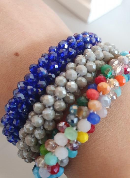 72322404 392861131621896 2594127368809349120 n | Konge blåt LW glitter perle armbånd