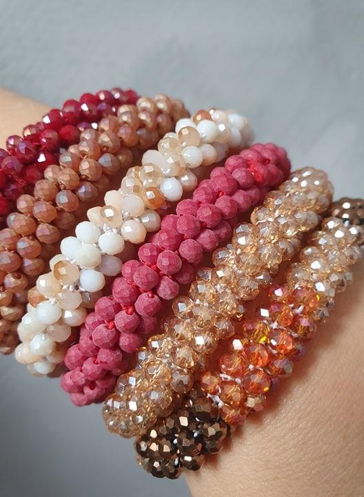 72759392 2615406615184971 2284237305080184832 n | Bordeaux Rødt LW perle armbånd