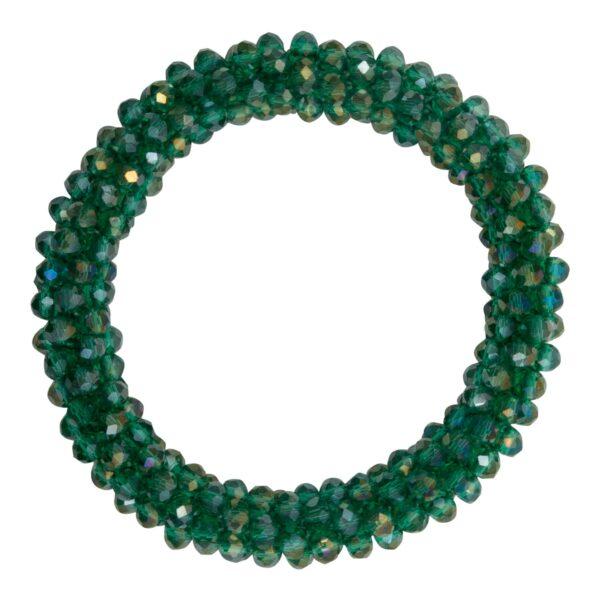 CR1 7541 1 | Flaskegrønt LW glitter perle armbånd