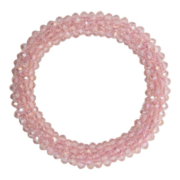 CR1 7551 1 | Rosa Quartz LW glitter perle armbånd