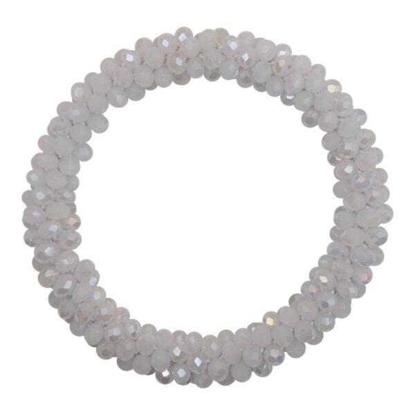 CR1 7553 Edit 1 | Mælke hvidt LW perle armbånd