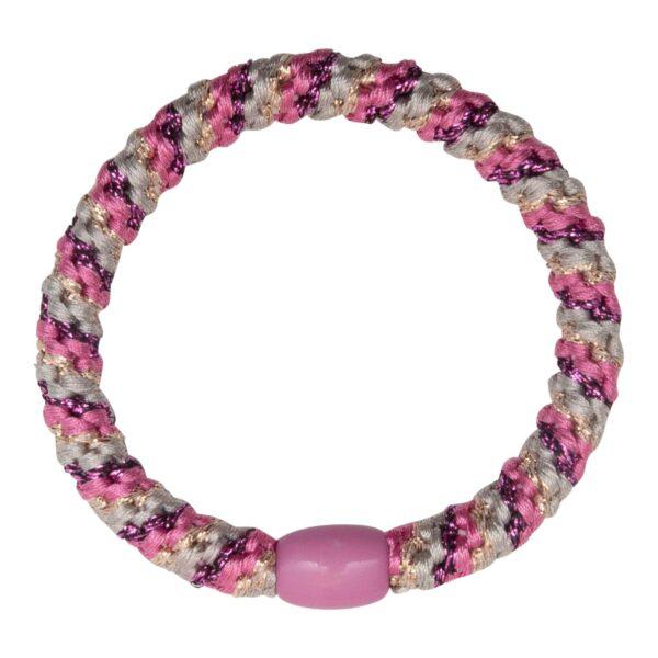 CR1 7585 | Missoni Pink LW hårelastik med striber