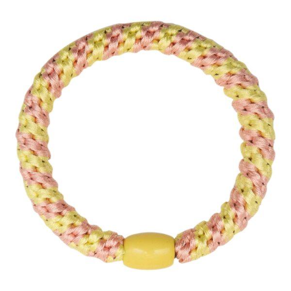 CR1 7587 Edit | Pastel gul og peach stribet LW hårelastik