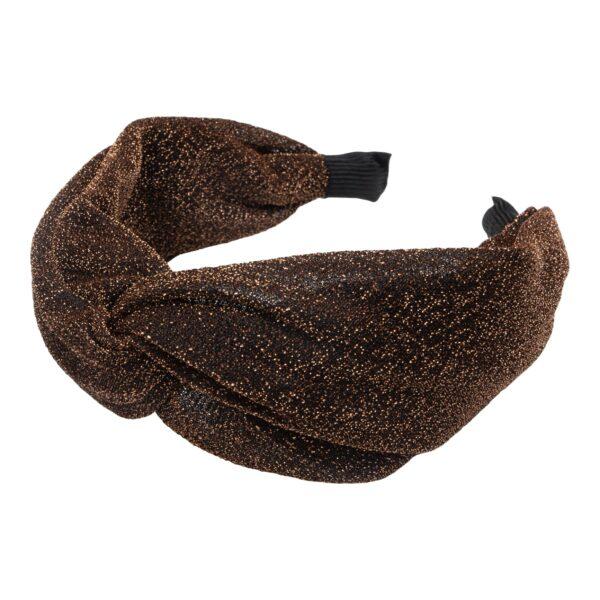 CR1 7615 | Bred kobber glitter hårbøjle med blød bøjle