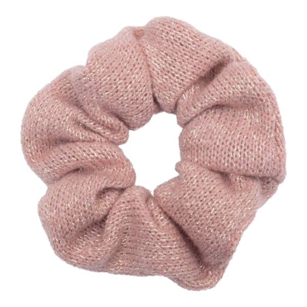 CR1 7622 1 | Scrunchie Strikket rosa glitter fra Little Wonders
