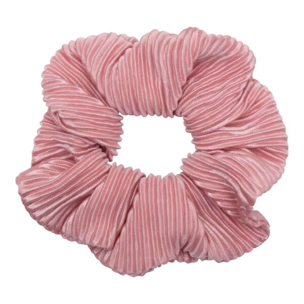 CR1 7627 1 | Scrunchie i rosa plissé stof fra Little Wonders