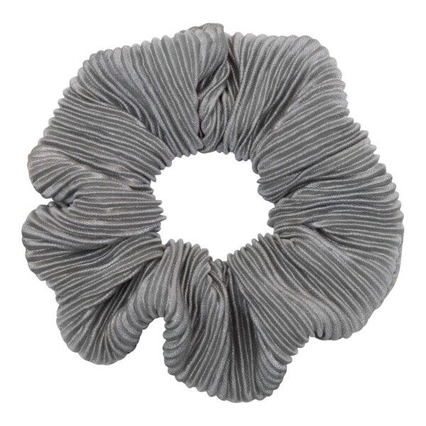 CR1 7630 1 | Scrunchie i gråt plissé stof fra Little Wonders