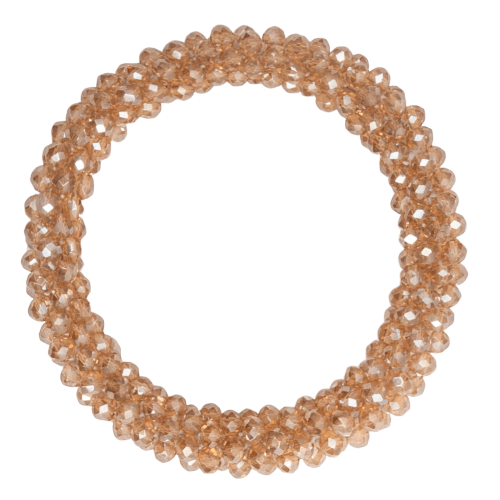 CR1 7920 Edit removebg preview | Beige LW glitter perle armbånd