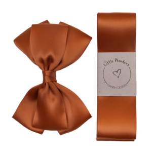 Kobberfarvet dåbssæt silke