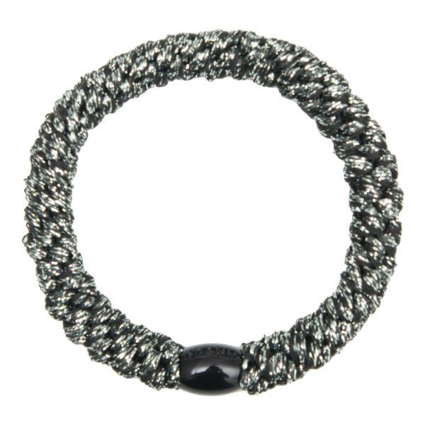 GGRR Dark Grey glitter Elastic NY | Koksgrå kraftig LW glitter hårelastik