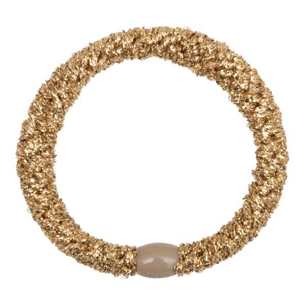 Gold GGMM | Guld kraftig LW glitter hårelastik