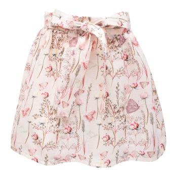 Sommerfugle printet Blanca nederdel med sløjfe