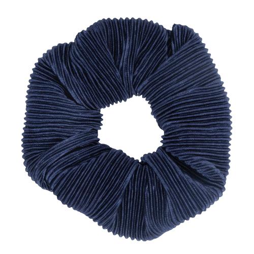 Scrunchie i navy plissé stof fra Little Wonders