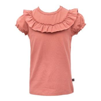 Rose Dawn kortærmet bluse med flæse