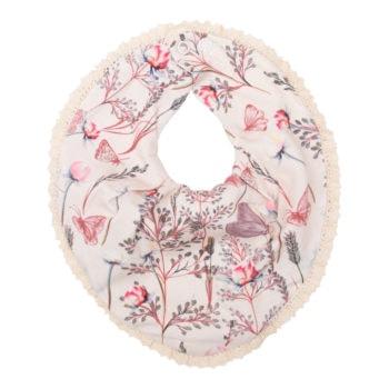 Sommerfugle printet Allie savlesmæk med blondekant