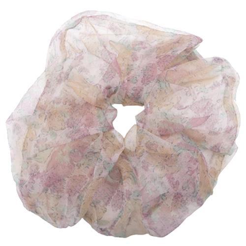 Stor organza scrunchie i lyserød