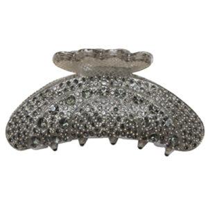 Hårklemme med sten i koksgrå