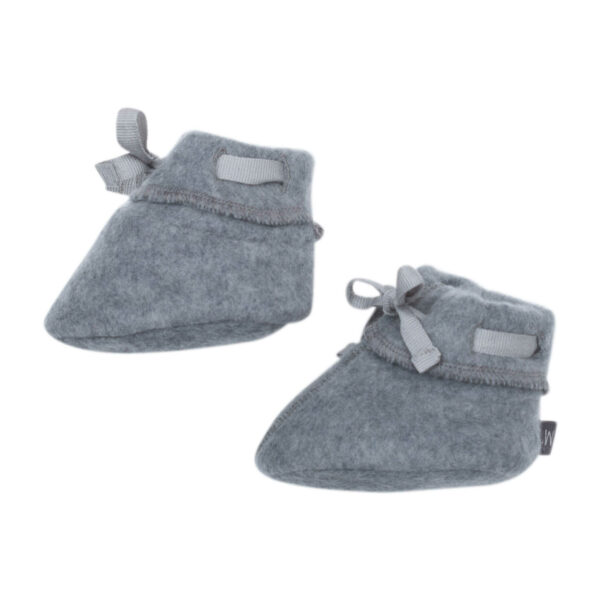 Asphalt Asger merino uld futter med snørebånd