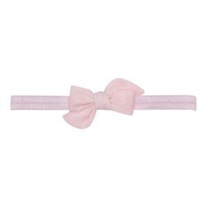 Elastik hårbånd med lille lyserød Klara hør sløjfe