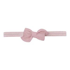 Elastik hårbånd med lille rosa Klara hør sløjfe