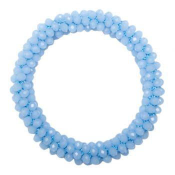 Perle armbånd i lyseblå