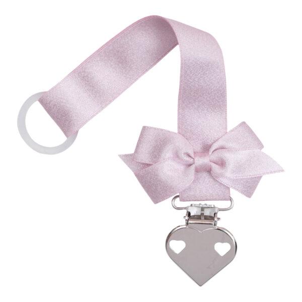 Suttesnor til piger i lyserød glitter satin