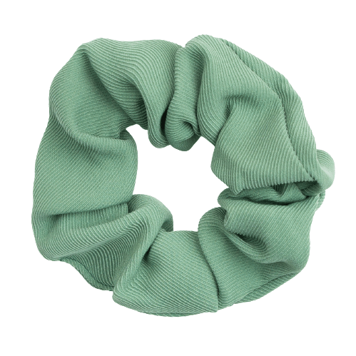 Twill vævet scrunchie i græs grøn