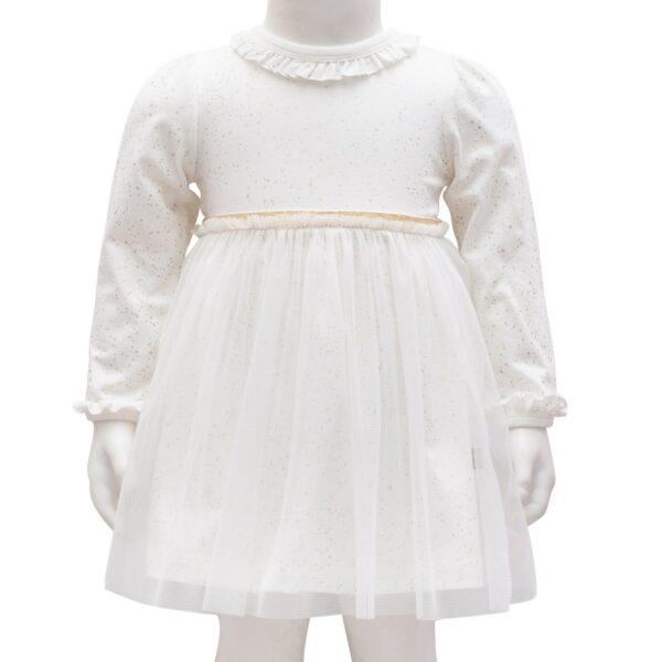 Off White glitter Adele Bodykjole med tyl